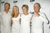 Kelsey Grammer and Camille Grammer with Tina Segal and Fred Segal  at the Birthday Celebration for F