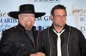 Eddie Montgomery and Troy Gentry  in the press room at the Academy Of Country Music Awards' Artist Of The Decade. MGM Grand, Las Vegas, NV. 04-06-09