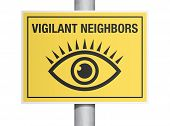 Vigilant neighbors sign