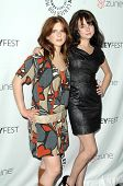 Magda Apanowicz and Alessandra Torressani at 'Battlestar Galactica-Caprica' presented by the Twenty-
