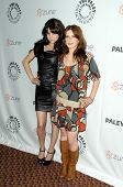 Alessandra Torressani and Magda Apanowicz at 'Battlestar Galactica-Caprica' presented by the Twenty-