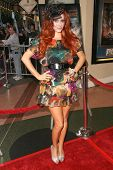 Phoebe Price wearing hat designed by her for the 'Phoebe Price Collection' at the Los Angeles Premiere of 'Mutant Chronicles'. Mann Bruin Theater, Westwood, CA. 04-21-09