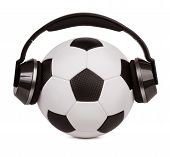 Soccer Ball With Headphones