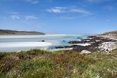 Isle Of Harris, White Sandy Beach At Low Tide