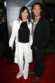 Anjelica Huston and Jack Huston  at the Industry Screening of 'X-Men Origins Wolverine'. Grauman's C