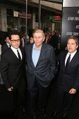 J.J. Abrams with Sumner Redstone and Brad Grey  at the Los Angeles Premiere of 'Star Trek'. Grauman's Chinese Theatre, Hollywood, CA. 04-30-09