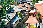 pic of cebu  - Aerial view on slums at night in Cebu city Philippines - JPG