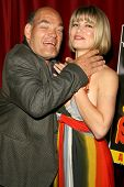 Irwin Keyes and Rena Riffel at the Los Angeles Premiere of 'Trasharella'. Lions Gate Screening Room, Santa Monica, CA. 05-09-09