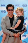 Antonio Sabato Jr and daughter Mina at the 'American Idol' Grand Finale 2009. Nokia Theatre, Los Ang
