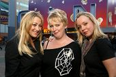 Jennifer Blanc-Biehn with Dena Wiseman and Jennifer Edwards  out for the evening at Universal City W