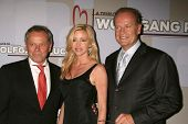 Wolfgang Puck with Camille Grammer and Kelsey Grammer  at the Heart Foundation gala honoring Wolfgan