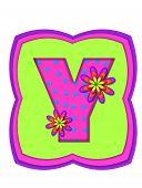 Alphabet Daisy Daze Y