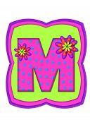 Alphabet Daisy Daze M