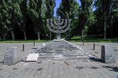 picture of menorah  - Babi Yar Menorah Monument - JPG