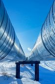 image of pipeline  - Pipeline on a background of blue sky - JPG