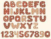 Vintage patchwork alphabet