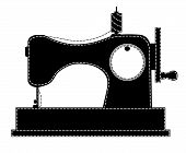 Silhouette of the sewing machine