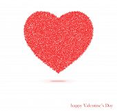Red Heart Isolated On The White