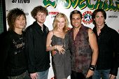 Adam G and Lovechild with Nicholle Tom at the Party Celebrating the Release of the Video 'I'm Gonna