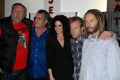 L-R Steve Jones, Steve Olsen, Elisabeth Weinstock, Scott Caan and Tony Alva at Steve Olson's 'Coming Out Party' An Art Show. Private Location, Los Angeles, CA. 02-28-09