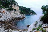 Small cove hidden in the rocks