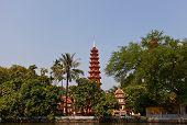 Tran Quoc Pagoda (1639). West Lake, Hanoi, Vietnam