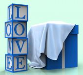 Love Giftbox Shows Dating Devotion And Greeting