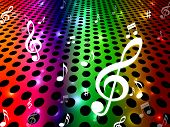 Background Music Shows Sound Track And Clef