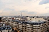 Paris skyline with Eiffel Tower at the background