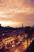Morning scenery in Paris