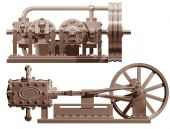 Steam Engine Front And Side