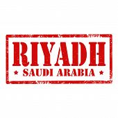 picture of riyadh  - Grunge rubber stamp with text Riyadh - JPG