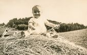 GERMANY, CIRCA FIFTIES - vintage photo of baby girl