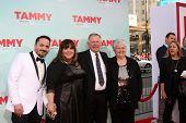 LOS ANGELES - JUN 30:  Ben Falcone, Melissa McCarthy, Michael McCarthy, Sandra McCarthy at the
