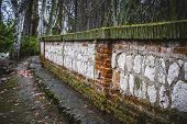 wall in the tajo river. Aranjuez, Madrid, Spain.World Heritage Site by UNESCO in 2001