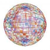 Multicolored Abstract Globe On White Background.