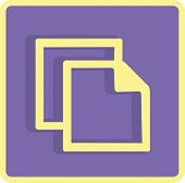 Flat Vector Copy Icon