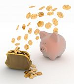 Piggy Bank and Dollar, Finance concept