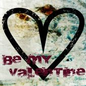 Valentine Background With Be My Valentine Text