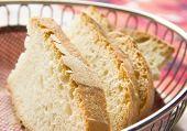 Sliced bread in a basket