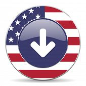download arrow american icon