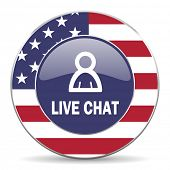 live chat american icon