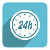 24 hours flat icon