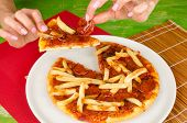 French Fries Toppin Pizza