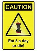 Five a day hazard Sign