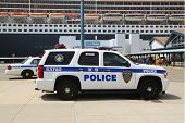 Port Authority Police New York New Jersey K-9 unit providing security for Queen Mary 2