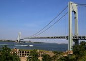 Fort Wadsworth in the front of Verrazano Bridge in New York