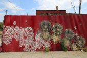 Mural in Red Hook section of Brooklyn