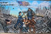 September 11 mural in Brooklyn