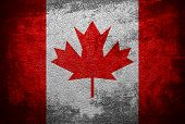 canada flag vintage leather